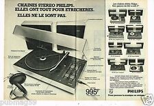 Publicité advertising 1977 (2 pages) Chaine Stéréo Hi-Fi Philips
