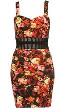 Motel Elly Bodycon Dress In Cherry Blossom Print - L / UK 14 - New