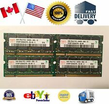 Lot of 4 Laptop Memory Ram 8GB 8G Kit 4 x 2GB PC2 - 6400S DDR2 800 Tested