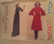 UNCUT Vintage Vogue Paris Original Pattern # 1758 Emanuel Ungaro Misses Dress