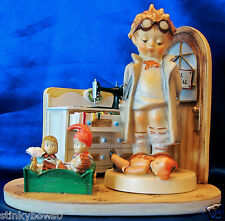 "CUTE GOEBEL M. I. HUMMEL ""DOCTOR"" FIGURINE, # HUM 127, W/DOLL HOSPITAL DISPLAY"