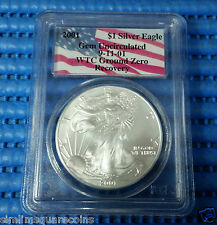 2001 US $1 Silver Eagle Coin Gem Uncirculated 9-11-01 WTC Ground Zero Recovery