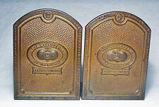 The Cyclopedia of Medicine/Antique Brass Bookends by Grammes & Sons ~1930's/Nice