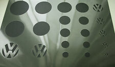 VW Volkswagen Logo 9 Different Sizes Car Airbrush Stencil Step by Step Paint