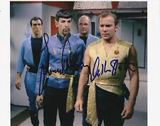 LEONARD NIMOY WILLIAM SHATNER SIGNED 8X10 PHOTO STAR TREK KIRK SPOCK AUTOGRAPH