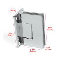 Frameless Pivot Shower Door Hinge 90 degree Wall-to-Glass Stainless Steel Chrome