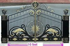 WROUGHT IRON BEST DRIVEWAY GATES 30k IF MADE IN  US NOTHING IS AS NICE
