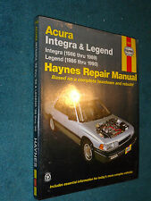 1986-1990 ACURA / INTEGRA / LEGEND SHOP MANUAL 91 90 + NEW UN-USED HAYNE'S BOOK