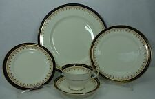 AYNSLEY china LEIGHTON-COBALT Smooth pattern 5-piece Place Setting Factory 2nd