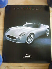 Jaguar F-Type Concept - original official dealer small poster