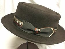 BILTMORE USA L FUR FELT FEDORA TRILBY HAT THE PETER BROWN 59cm 7 3/8 LARGE