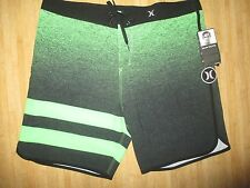 NEW* HURLEY PHANTOM BOARDSHORTS SHORTS MENS 36 Swimsuit Block Party $65 Green