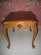 Ethan Allen Legacy Russet Maple Carved Country French Design End Table 13 8623