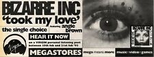 20/2/93PGN45 BIZARRE INC : TOOK MY LOVE SINGLE ADVERT 4X11""