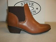 Steve Madden Size 6 M Rozamare Dark Cognac Leather Ankle Boots New Womens Shoes