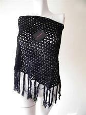 LADIES BLACK KNIT CUTE BELLA BABE PONCHO TOP NEW WITH TAG