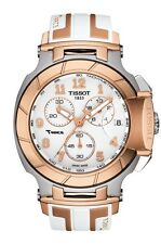 New Tissot T-Race Chronograph Sport Mens Silicone Strap Watch T0484172701200