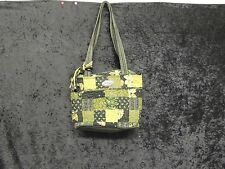 DONNA SHARP QUILTED PATCH BAG/PURSE W/2 STRAPS