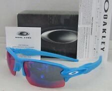 OAKLEY sky blue/positive red iridium FLAK JACKET 2.0 OO9295-03 sunglasses! NEW!
