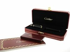 Cartier Diabolo Black Composite Gold Fountain Pen Ref ST180004 $650