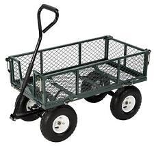 NEW Farm & Ranch 400 Pound Capacity Steel Folding mesh deck Utility Cart wagon