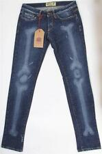 Fake London Blue Denim bas Stretch Jeans Taille 27-Bnwt