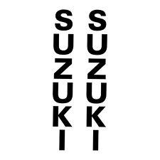 2 Stickers FOURCHE Bandit SV GSR GSX-R DRZ Suzuki - 23cm x 3cm