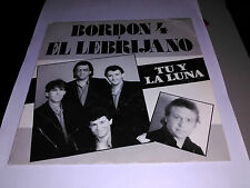 SINGLE PROMO BORDON 4 Y EL LEBRIJANO - TU Y LA LUNA - EMI SPAIN 1986 VG+