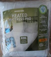 Biddeford Heated Mattress Pad with Two Controllers ~ NEW King