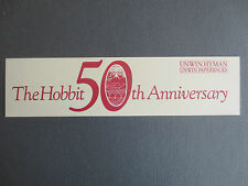 BOOKMARK The Hobbit J R R Tolkien 50th Anniversary 1987 UNWIN HYMAN Books PROMO