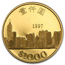 1997 Hong Kong Proof Gold $1000 Dollars Return to China - SKU #49833