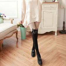 New Women Silk Stockings Pantyhose Ribbed Over Cute Cat Sexy Slim Tights