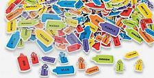35 Crayon Foam Stickers Self-adhesive Shapes Orange Red Blue Purple Green Yellow