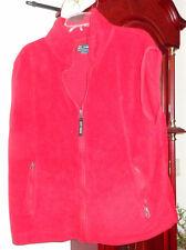2XL XXL Mens Ladies Ivy Crew Vest Polar Fleece Jacket Zip Front Red Unisex