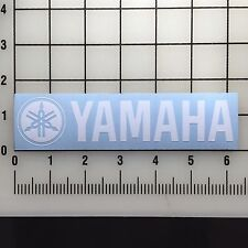 "Yamaha Logo 6"" Wide White Vinyl Decal Sticker - BOGO"
