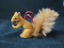 Wagner Flocked Red Squirrel Figure Miniature West Germany Animal Ornament