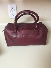 Vtg Etienne Aigner oxblood red burgundy small Leather Purse Duffle Handbag