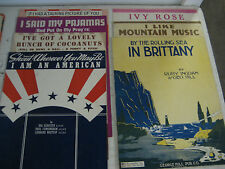 """Vintage sheet music Lot of 7,  """"Shout Where You man be.."""" +6 more"""