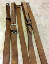 USED HUNGARIAN MILITARY AK TAN LEATHER RIFLE SLING GOOD SHAPE 7.62x39 5.45x39
