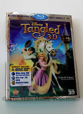 Disney Fairy Tale Rapunzul Tangled 3D Blu-ray DVD Digital Copy No Slipcover