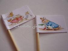 20 Banderas/Toppers Cupcake-Peter Rabbit Para Niños Fiesta De Cumpleaños