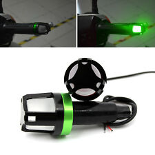 2x Green LED Handlebar End Plug Turn Signal Light Indicator For Bike Motorcycle