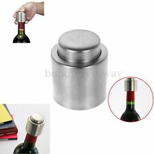 NEW Reusable Stainless Steel Vacuum Sealed Champagne Red Wine Bottle Stopper New