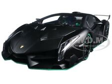 LAMBORGHINI VENENO MATT BLACK 1/18 DIECAST MODEL CAR  BY AUTOART 74505