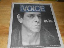 The Village Voice Feature On Death of Lou Reed 1942-2013 Velvet Underground 2013