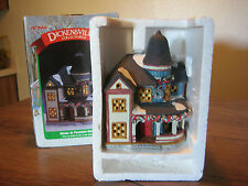 Dickensville Noma Porcelain Lighted Porched House with Christmas Wreaths