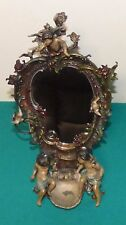 Amazing Art Nouveau Antique Figural  Vanity Dresser Mirror Cherubs & Birds