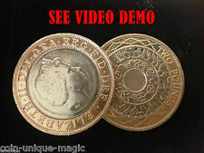 MAGIC TRICKS - THE AMAZING £2 TWO POUND GRAVITY FLIPPER COIN