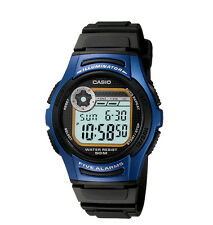 Casio W213-2AV, Chronograph Watch, Blue Resin Band, 5 Alarm, 10 Year Battery