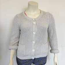 Esprit Ladies Everyday Casual Thick Knitted Light Cream Button Cardigan Size XL
